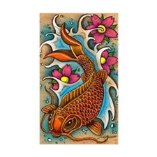 Koi Fish Art by Julie Oakes Decal