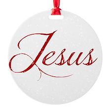 The Name of Jesus dark Ornament