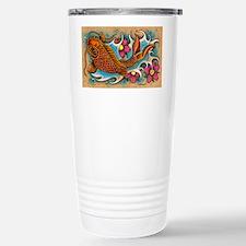 Koi Fish Art by Julie Oakes Travel Mug