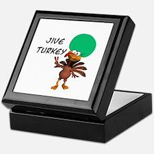 Green Afro Jive Turkey Keepsake Box