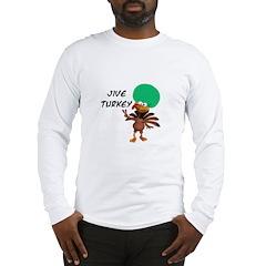 Green Afro Jive Turkey Long Sleeve T-Shirt