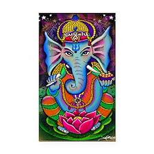 Ganesha Art by Julie Oakes Rectangle Car Magnet