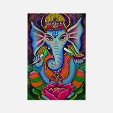 Ganesha Art by Julie Oakes Rectangle Magnet