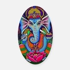 Ganesha Art by Julie Oakes Oval Car Magnet