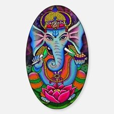 Ganesha Art by Julie Oakes Sticker (Oval)
