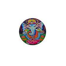 Ganesha Art by Julie Oakes Mini Button