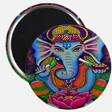 Ganesha Art by Julie Oakes Magnet
