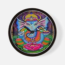 Ganesha Art by Julie Oakes Wall Clock