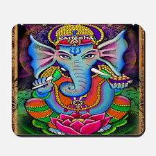 Ganesha Art by Julie Oakes Mousepad