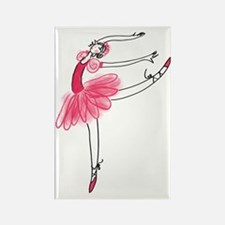 Pink Ballerina Rectangle Magnet