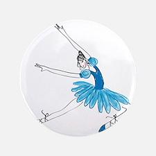 """Blue Ballerina 3.5"""" Button"""