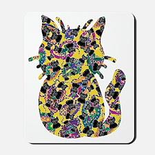 Colorful Paisley Kitty Mousepad