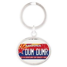 Arizona License Plate Oval Keychain