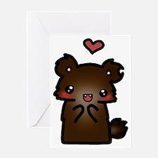 ldshadowlady bear Greeting Card