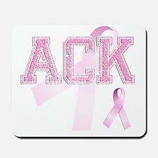 ACK initials, Pink Ribbon, Mousepad