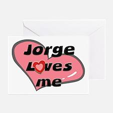 jorge loves me  Greeting Cards (Pk of 10)