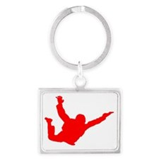 Silhouette 2 red Landscape Keychain