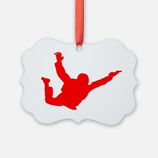 Silhouette 2 red Ornament