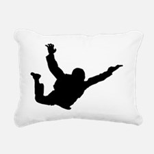 Silhouette 2 black Rectangular Canvas Pillow