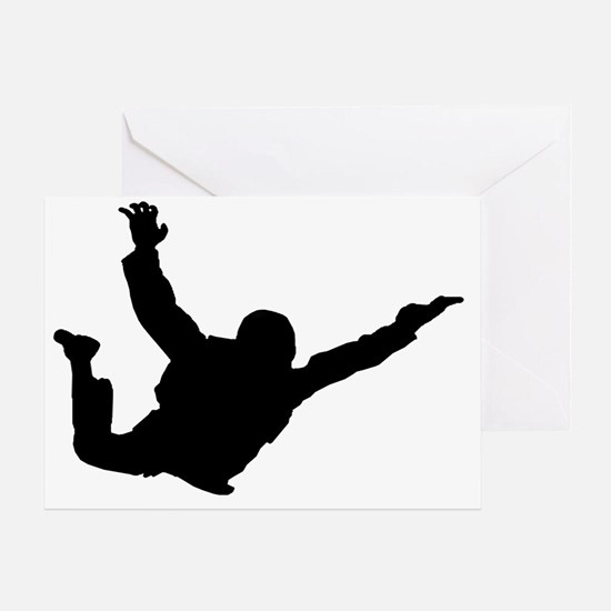 Silhouette 2 black Greeting Card
