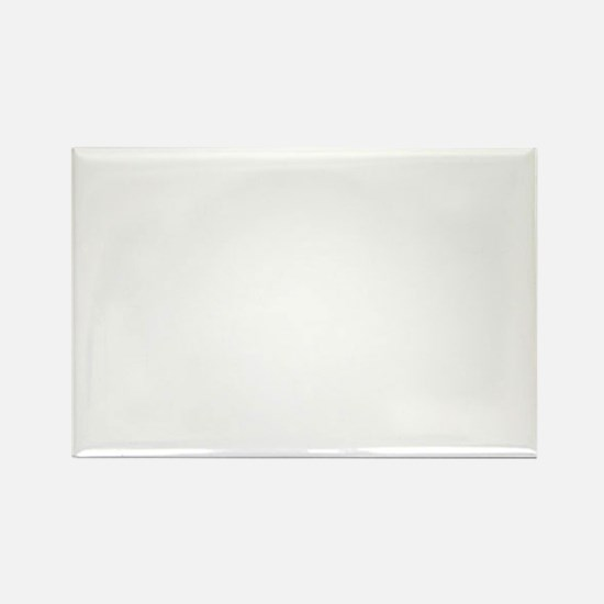 Silhouette 2 white Rectangle Magnet