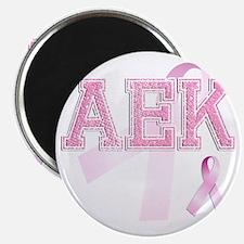 AEK initials, Pink Ribbon, Magnet