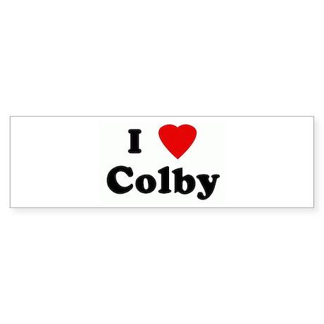 I Love Colby Bumper Sticker