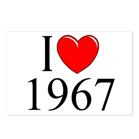 """I Love 1967"" Postcards (Package of 8)"