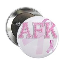 """AFK initials, Pink Ribbon, 2.25"""" Button"""