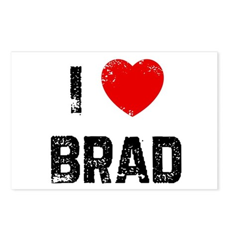 I * Brad Postcards (Package of 8)