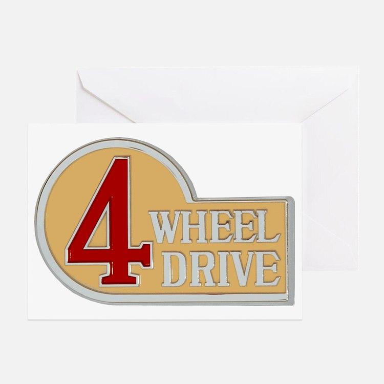 4WD logo Greeting Card