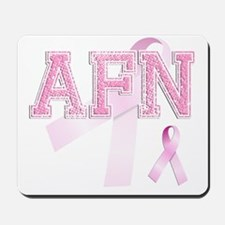 AFN initials, Pink Ribbon, Mousepad