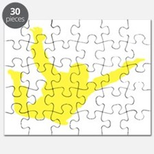 Freefall Sihouette 2 yellow Puzzle
