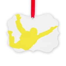 Freefall Sihouette 2 yellow Ornament