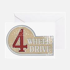 4wd emblem - faded Greeting Card