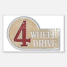 4wd emblem - faded Sticker (Rectangle)