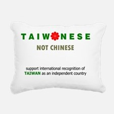 Taiwanese Not Chinese Rectangular Canvas Pillow