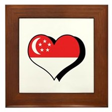 I Love Singapore Framed Tile