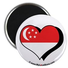 "I Love Singapore 2.25"" Magnet (100 pack)"
