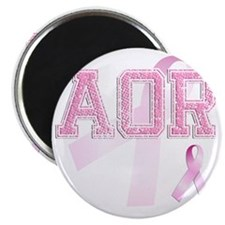 AOR initials, Pink Ribbon, Magnet