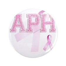 """APH initials, Pink Ribbon, 3.5"""" Button"""