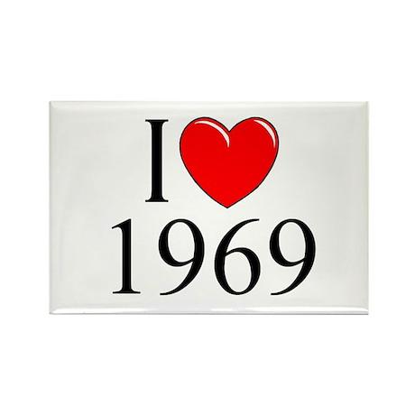 """I Love 1969"" Rectangle Magnet"