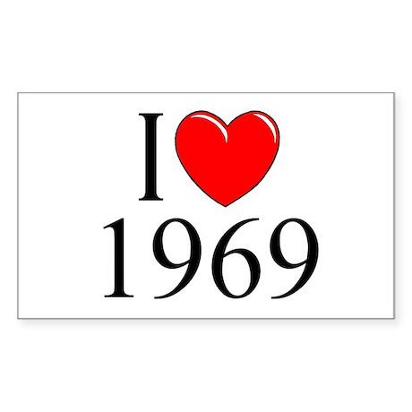 """I Love 1969"" Rectangle Sticker"