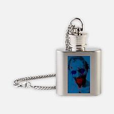 Blue Walker Flask Necklace