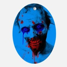 Blue Walker Oval Ornament