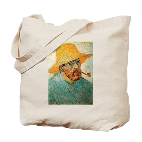 Pipe and Straw Hat Tote Bag