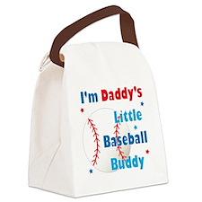 Daddys Little Baseball Buddy Canvas Lunch Bag