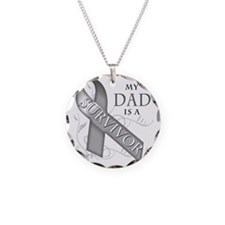 My Dad is a Survivor (grey) Necklace