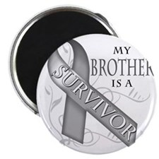 My Brother is a Survivor (grey) Magnet