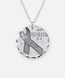 My Husband is a Survivor (gr Necklace Circle Charm